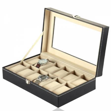 Кожена кутия за съхранение на дванадесет часовника 155.00 лв.