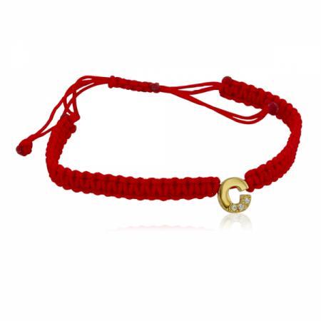 Червен конец със златен елемент буква И в кръг 38.00 лв.
