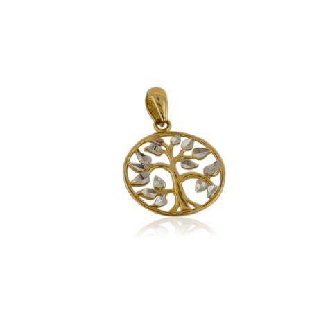 Златни обеци с диамантен ефект