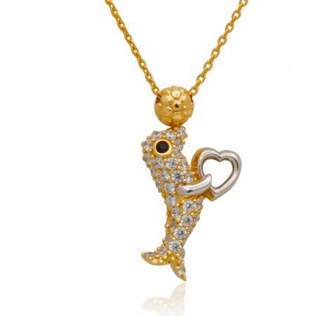 Златен пръстен с централен камък и ред от квадратни странични камъни 426.00 лв.