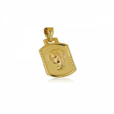 Жълто злато годежен пръстен с квадратни камъни 443.00 лв.
