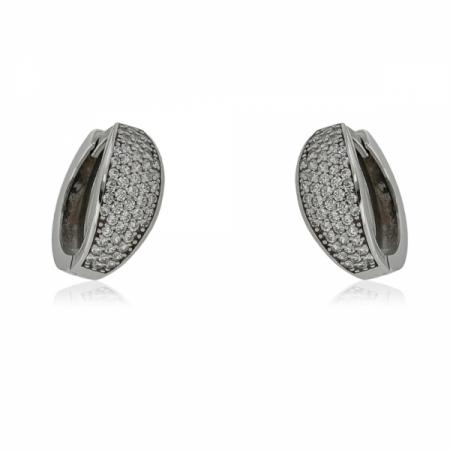 Дамски златни обеци с правилна форма на елемента