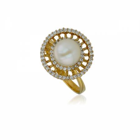 Дамски златни обеци с отблясъци