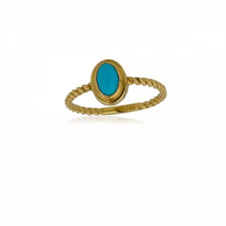 Нежно пръстенче от бяло злато