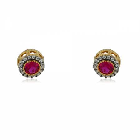 Класически модел златни обеци топки 128.00 лв.
