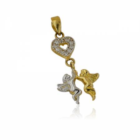 Златен комплект обеци,колие и пръстен в пленителено зелен цвят 500.00 лв.