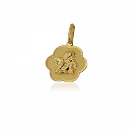 Много красиви бебешки златни обеци със сини камъни
