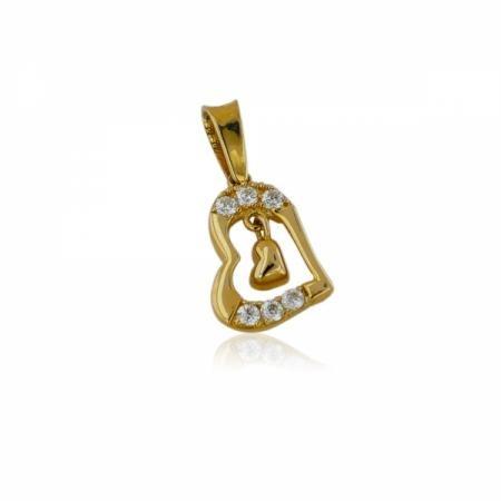 Дамски златни обеци халки с фигура мрежичка