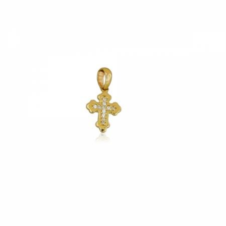 Златен кръст от жълто злато с камъчета 293.00 лв.