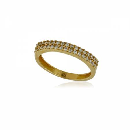 Тънка златна халкичка с шест камъчета 199.00 лв.