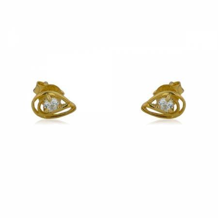 Златен ключ със сърце лв.