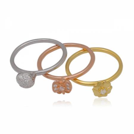Златни брачни халки с асимитрични вълнички 1,145.88 лв.