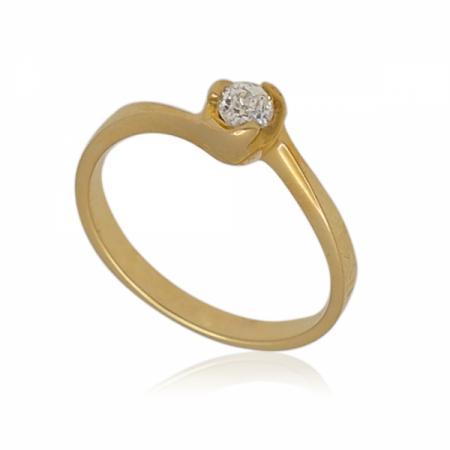 Годежен пръстен с три скобички около камъка 135.00 лв.