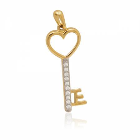 Златно ключе със сърце в горната част 97.00 лв.