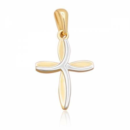 Златен кръст с бяло и жълто злато 66.00 лв.