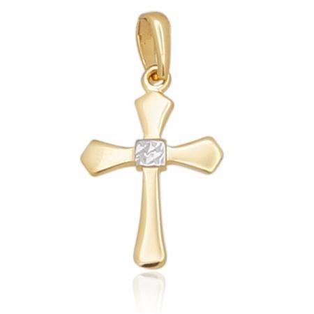Кръст от жълто злато с елемент от бяло  0.00 лв.