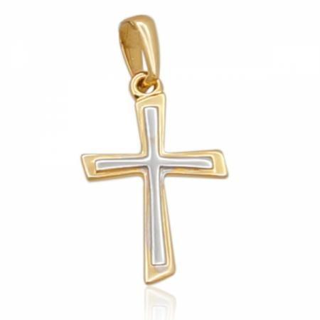 Кръст с два цвята злато 57.00 лв.