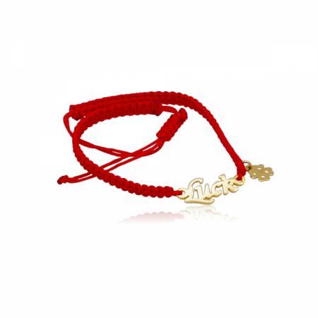 Късметлийска гривна с червен конец и златен елемент 126.00 лв.