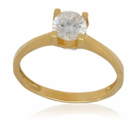 Златен годежен пръстен с квадратна каса 218.16 лв.