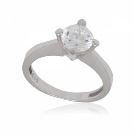 Бяло злато годежен пръстен класически 282.96 лв.