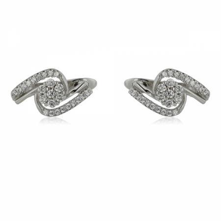 Сребърен пръстен с квадратна форма