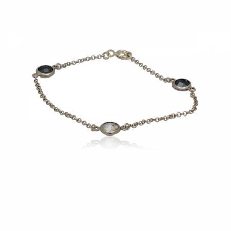Сребърен пръстен с ромб