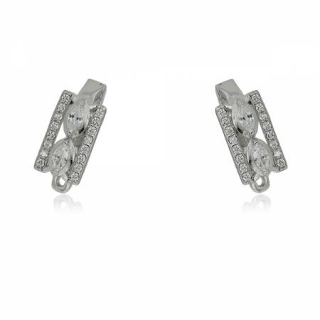 Висулка от сребро във формата на ключ с кръстче