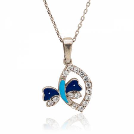 Сребърен пръстен с извивка като охлюв