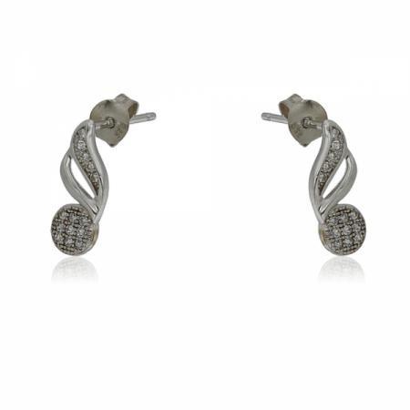 Сребърен пръстен с вграден пръстен в сърце