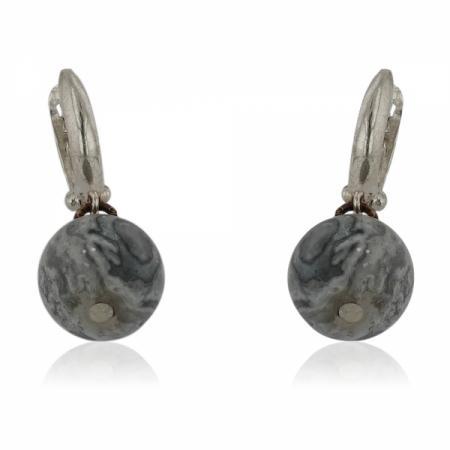 Сребърен пръстен с голям кръгъл камък