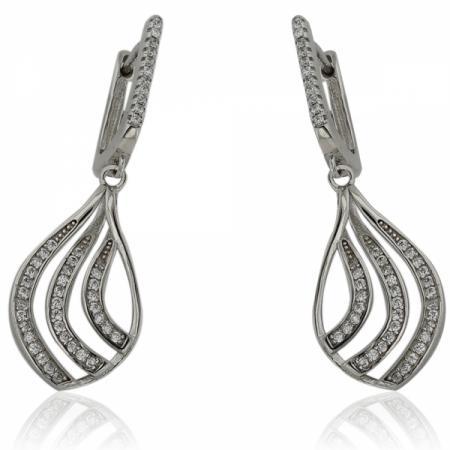 Сребърен пръстен с висяща перла 113.00 лв.
