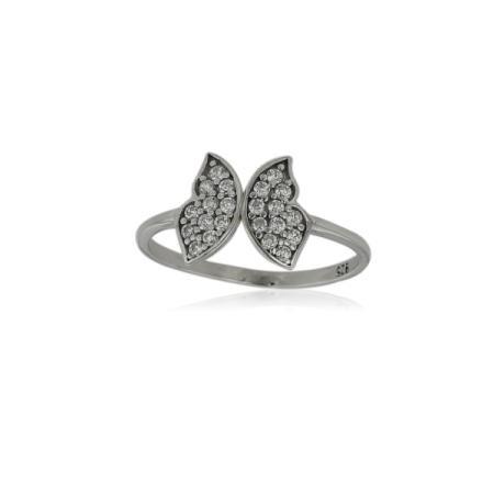 Сребърен пръстен с централен камък