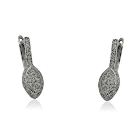 Двоен сребърен пръстен с перла