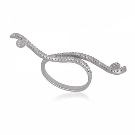 Сребърна висулка сърце с панделка