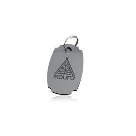 Лазерно изрязан и гравиран ключодържател от двуслоен ABS