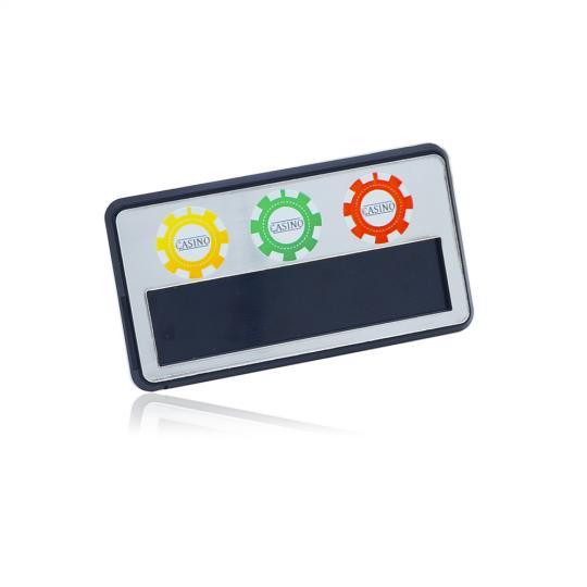 Бадж с пълноцветен печат от двуслоен ABS със сменяемо име