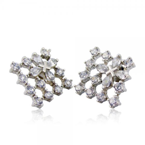 сребърни обеци с камъни