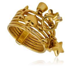 Златни брачни халки само от жълто злато с две вълнички 955.80 лв.