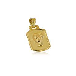 Жълто злато годежен пръстен с квадратни камъни 307.00 лв.