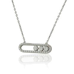 Широки златни халки с две ленти бяло злато 791.00 лв.