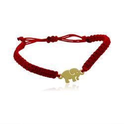 Червен конец със златен елемент слонче 53.00 лв.