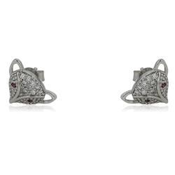 Сребърно слонче за късмет на гривна с червен конец