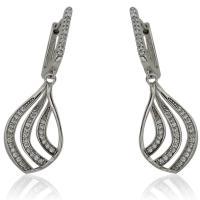 Сребърен пръстен с висяща перла